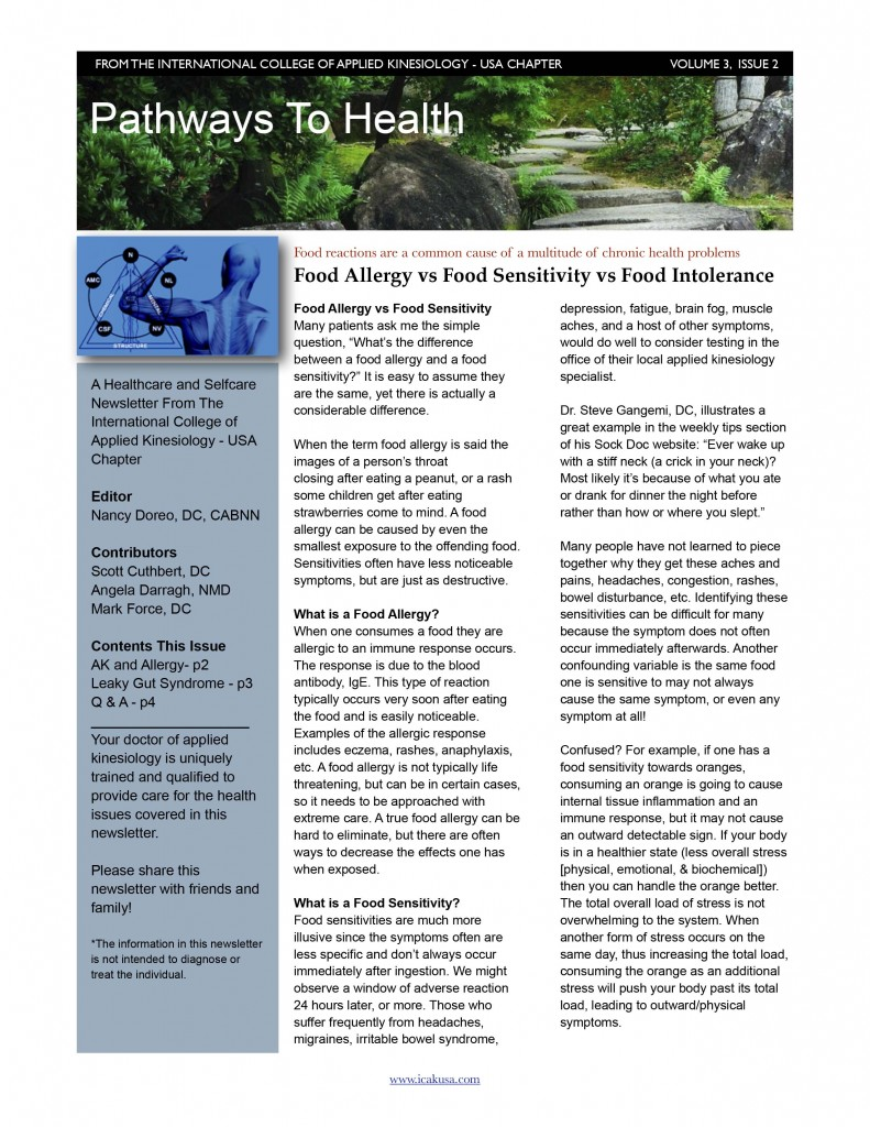 ICAK Newsletter Volume 3, Issue 2